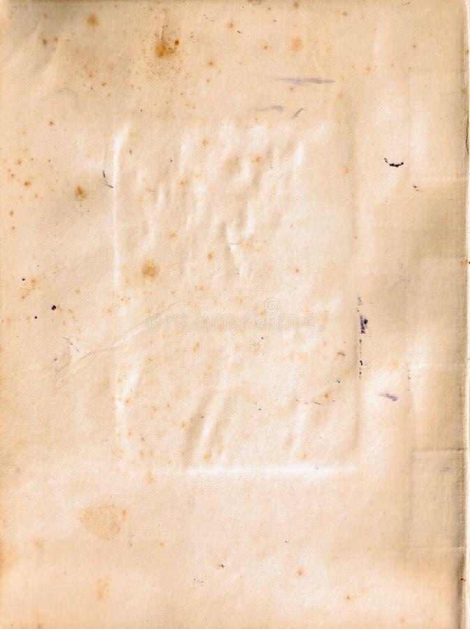 渐近被撕毁的老纸纹理 库存例证