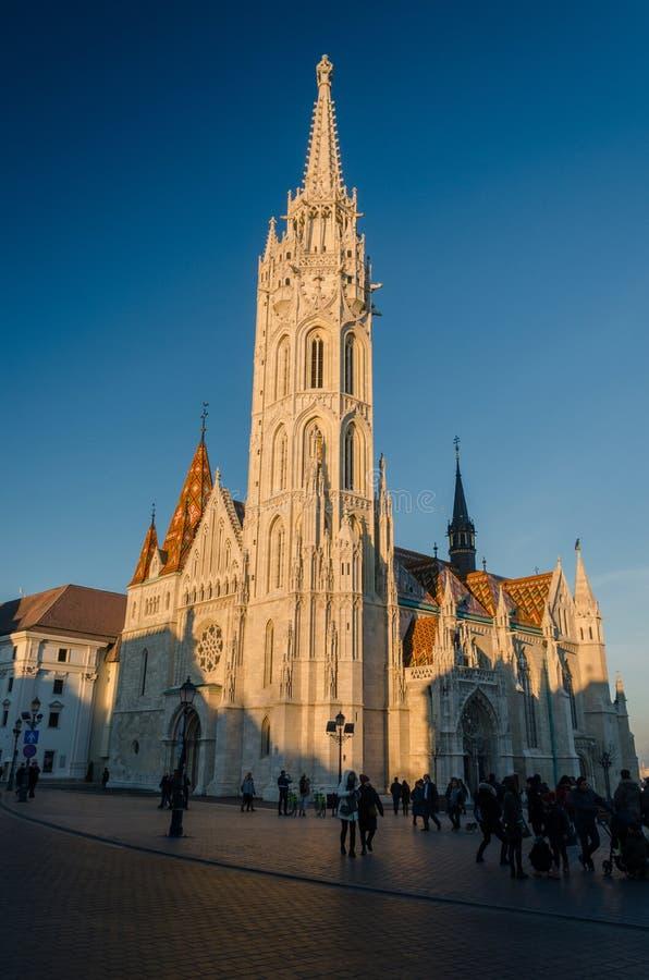 渔人堡的,布达佩斯,匈牙利马赛厄斯教会 库存照片