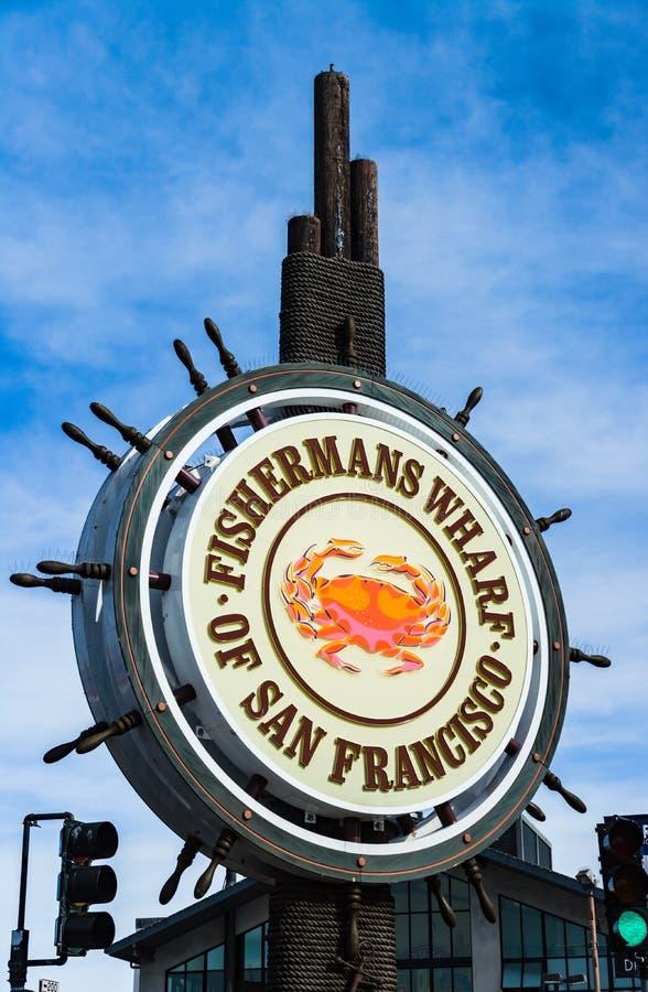 渔人码头标志在旧金山 库存照片