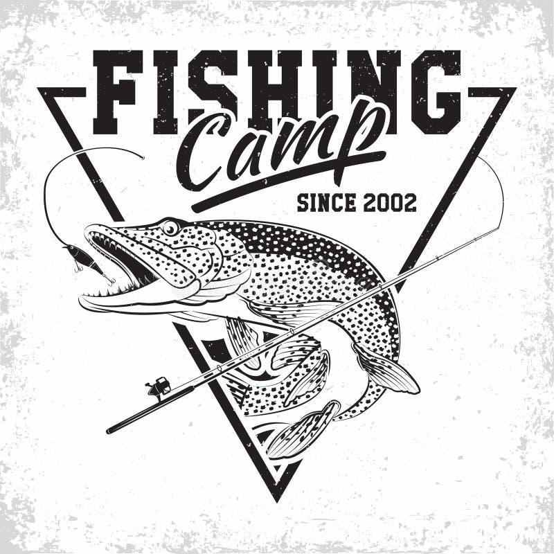 渔俱乐部商标 免版税库存照片