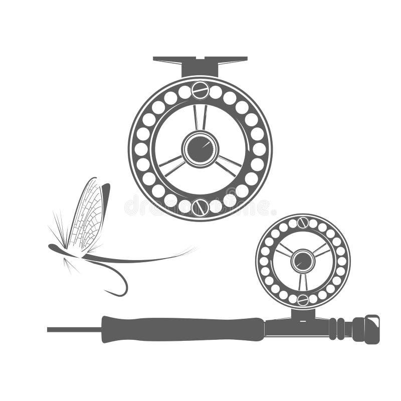 渔卷轴象 库存例证