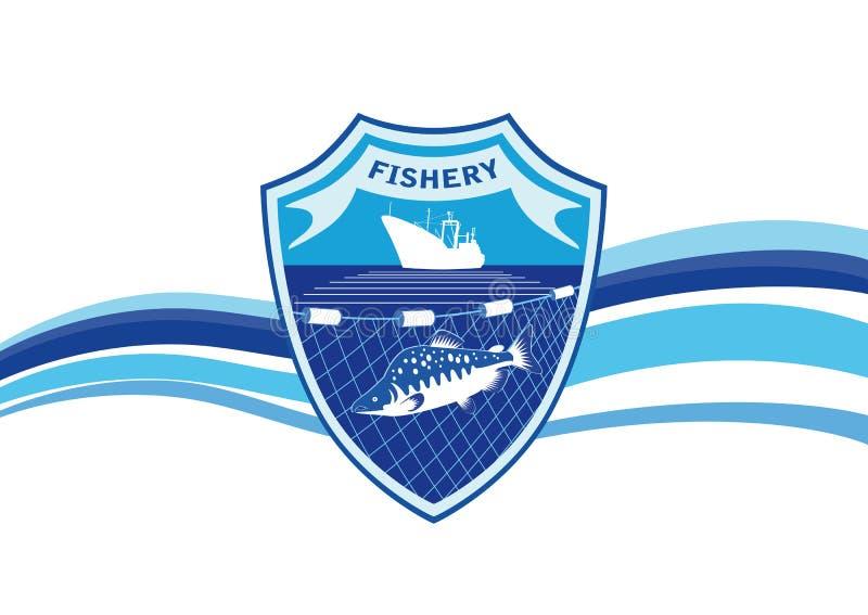 渔场产业象征 皇族释放例证