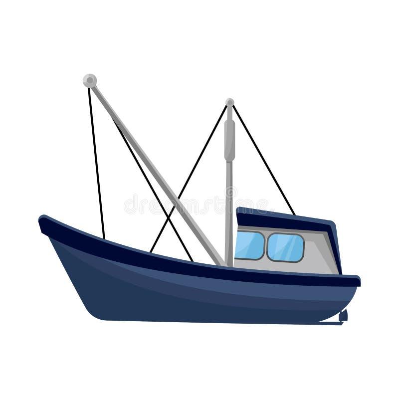 渔场和拖网渔船商标传染媒介设计  设置渔场和海军储蓄传染媒介例证 向量例证