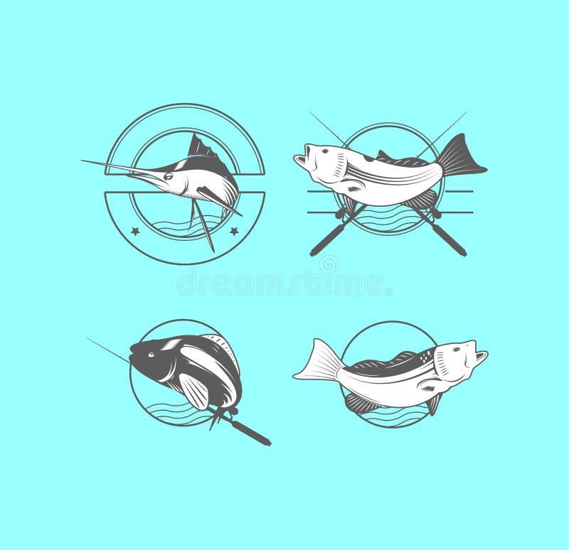 渔场商标传染媒介  向量例证