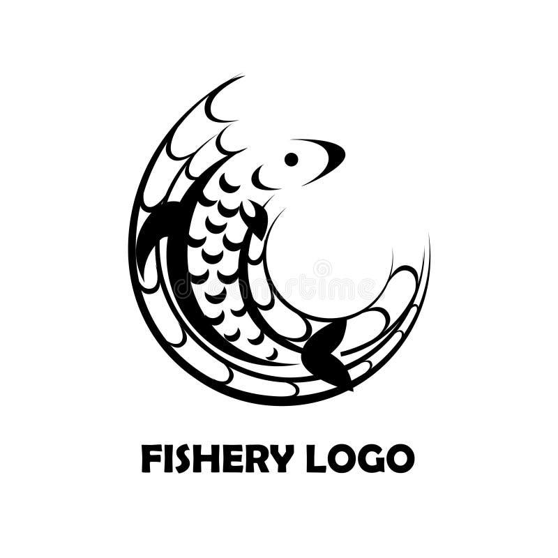 渔场商标 皇族释放例证