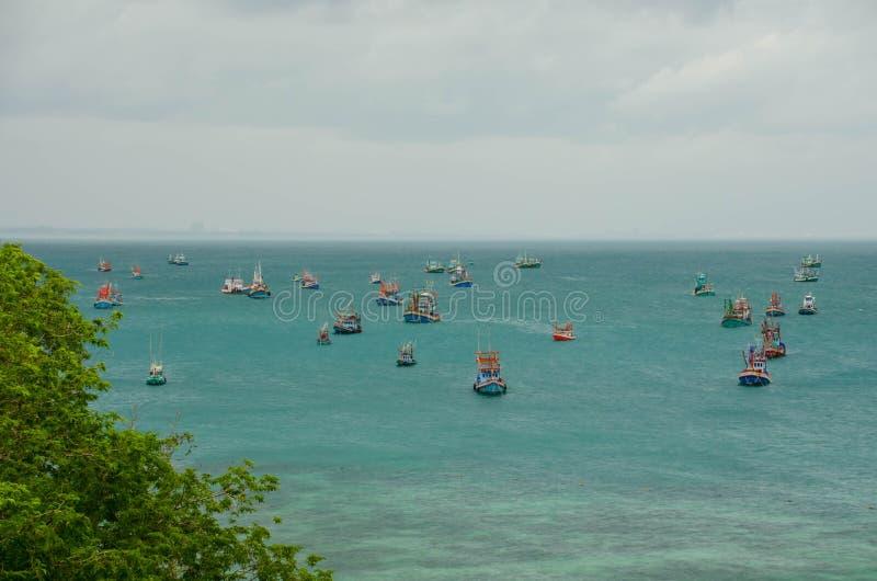 渔场小船 图库摄影
