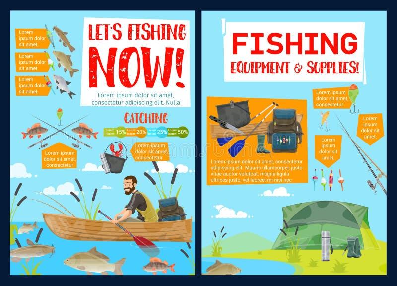 渔场设备和供应,渔夫 皇族释放例证