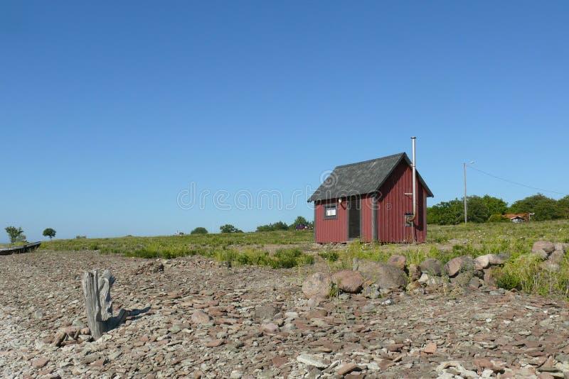 渔夫典型的房子  免版税库存图片
