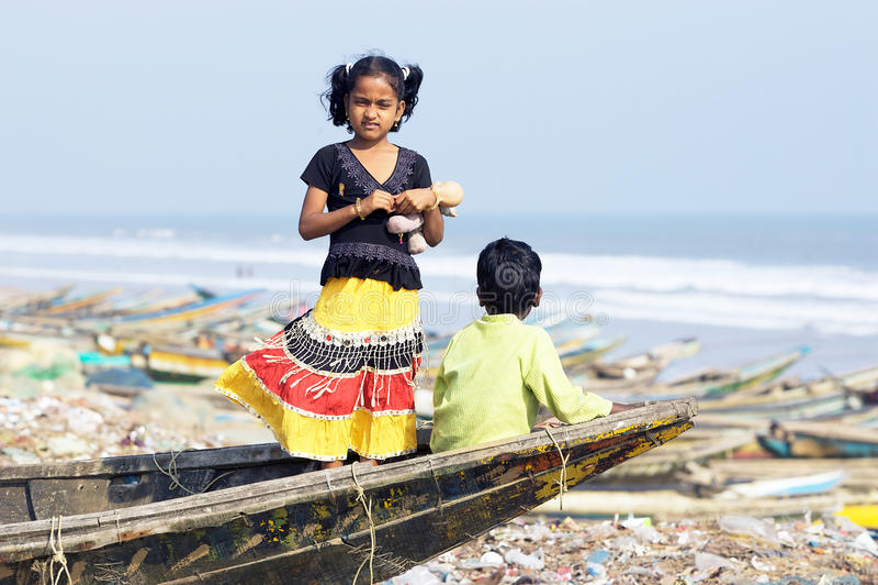 渔夫印地安人村庄 图库摄影