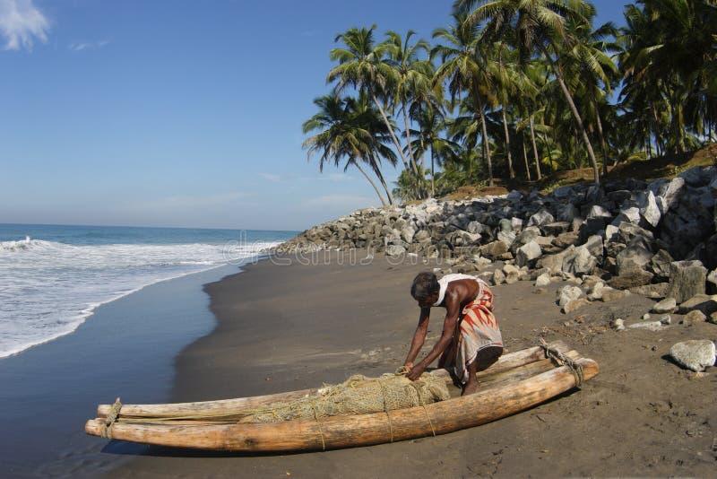 渔夫印地安人 免版税库存照片