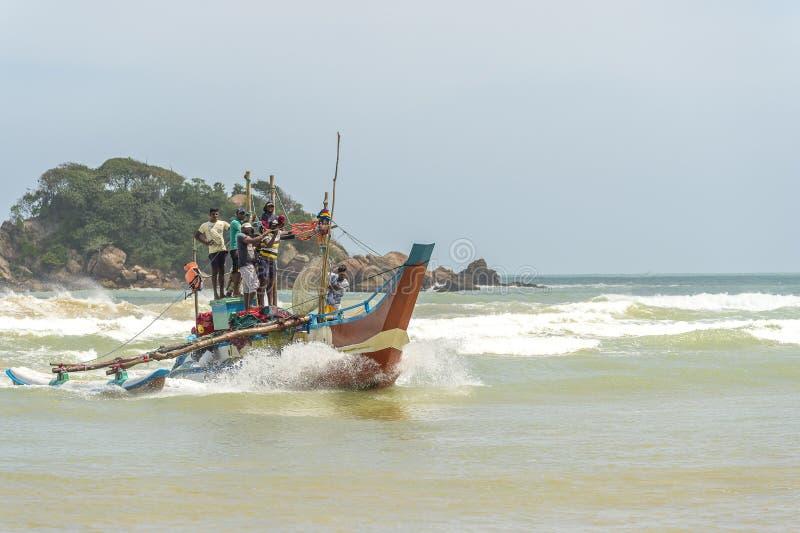渔夫在斯里兰卡 库存图片