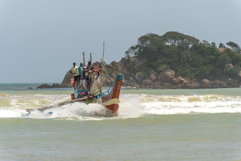 渔夫在斯里兰卡 免版税库存照片