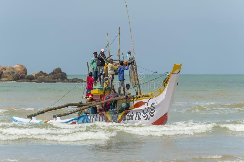 渔夫在斯里兰卡 免版税库存图片