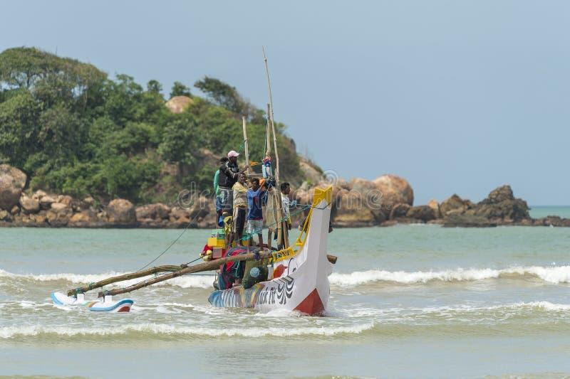 渔夫在斯里兰卡 库存照片