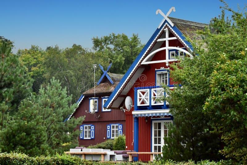 渔夫房子在奈达,立陶宛 图库摄影