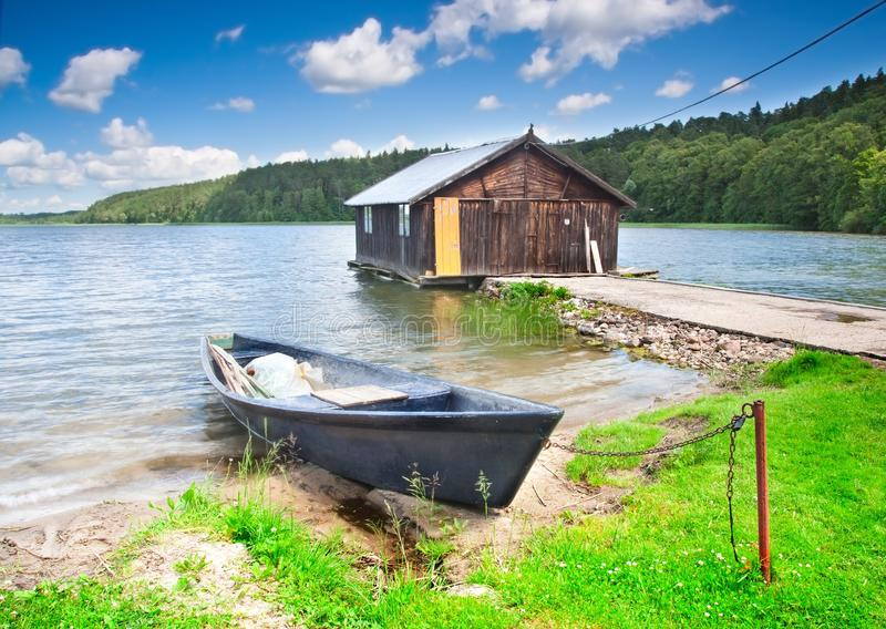 渔夫房子 免版税图库摄影