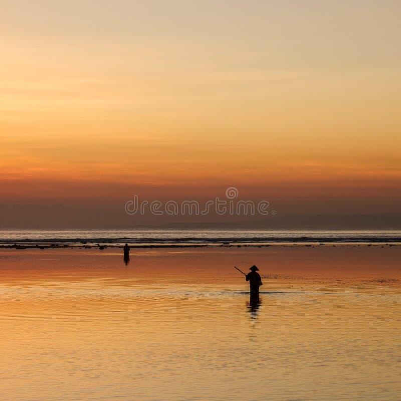 渔夫早晨 免版税图库摄影