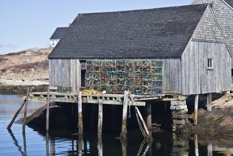 渔夫棚子 库存照片