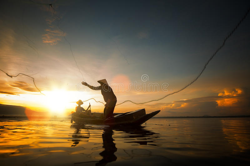 渔夫泰国 免版税图库摄影