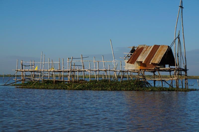 渔夫的小小屋 免版税库存图片