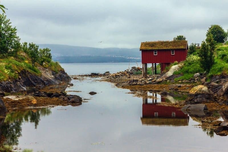 渔夫的小屋。 免版税库存照片