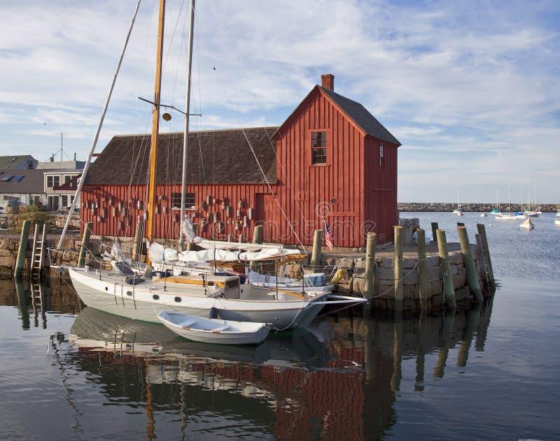 渔夫的棚子 免版税库存照片