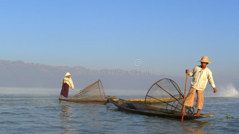 渔夫缅甸 免版税库存图片