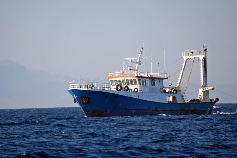 渔夫船 免版税库存照片
