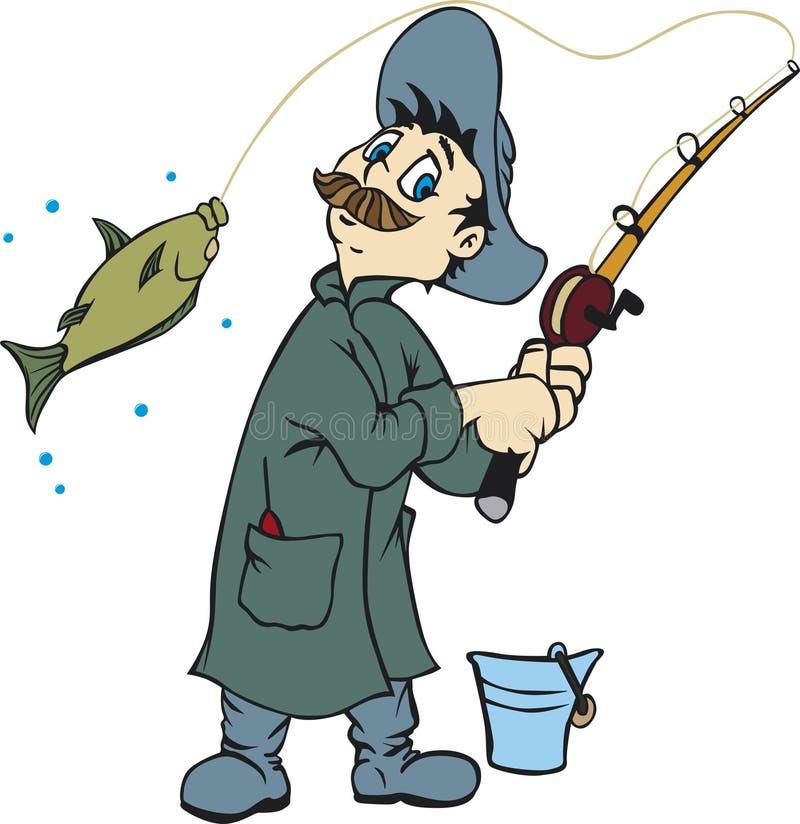 渔夫 库存例证