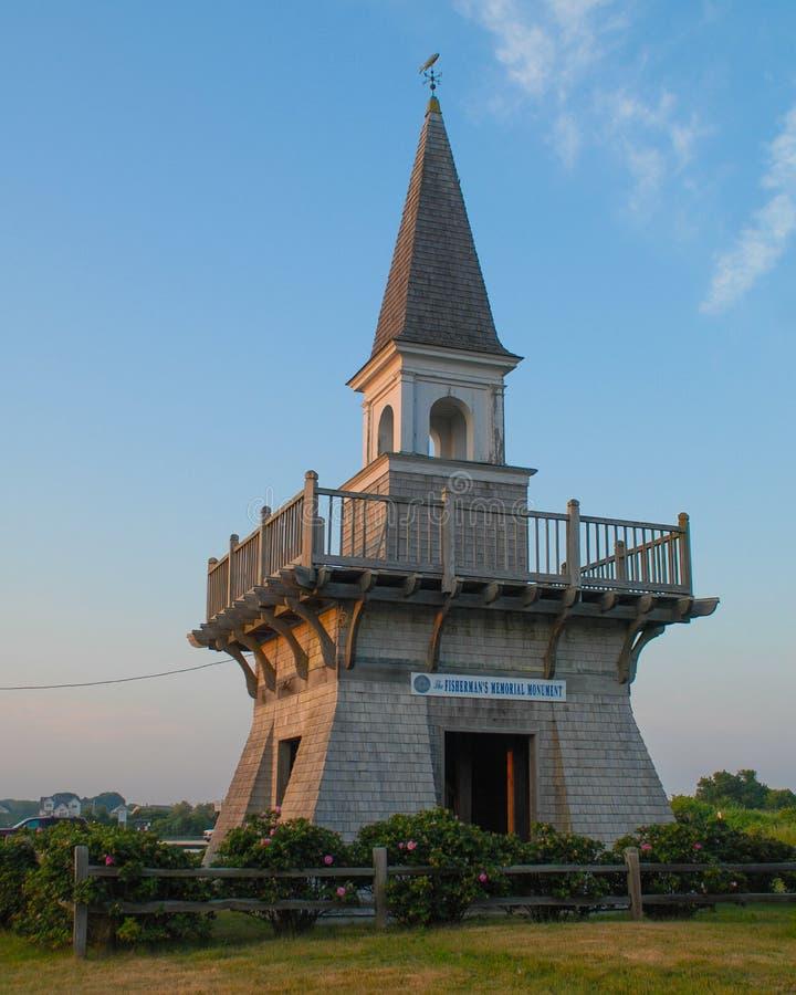 渔夫` s纪念公园在内盖夫加利利, Narragansett, RI 免版税图库摄影
