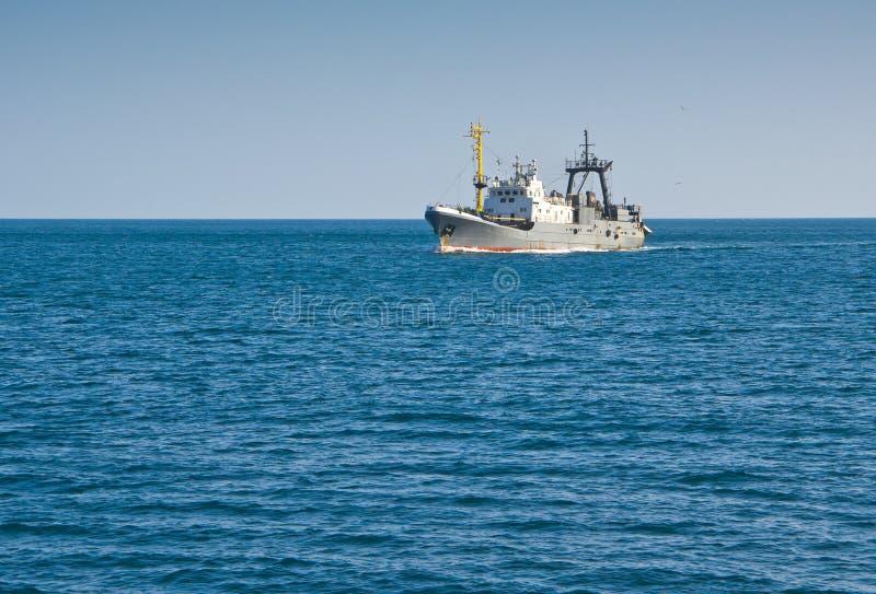渔拖网渔船 库存图片