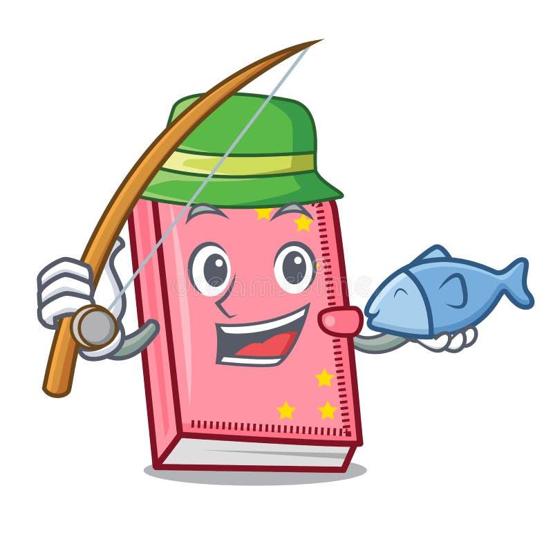 渔日志吉祥人动画片样式 向量例证