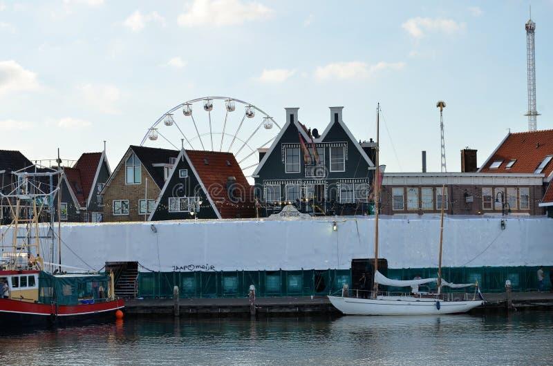 渔村在荷兰 免版税库存照片