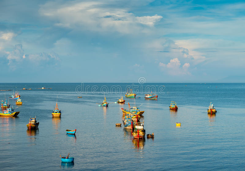 渔村在Muine 免版税库存图片