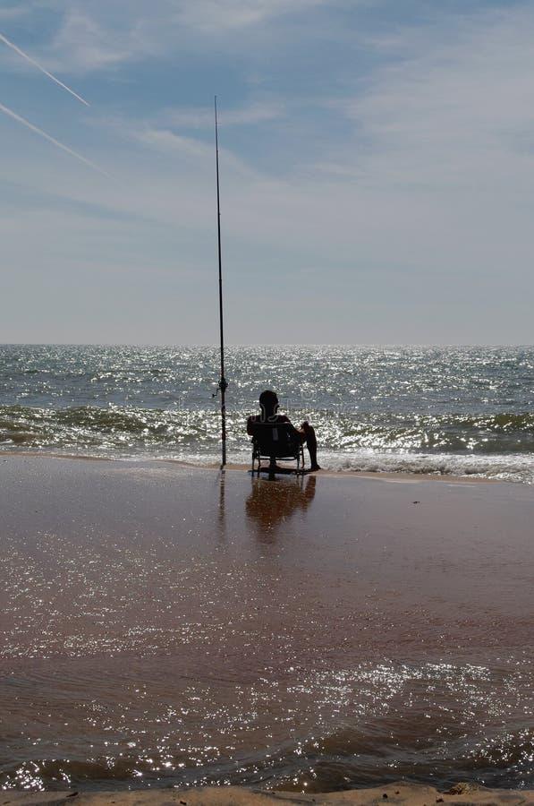 渔海滩海洋 库存照片
