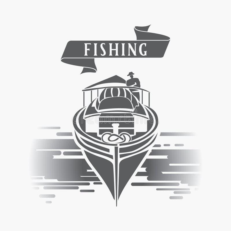 渔船传染媒介商标模板 皇族释放例证