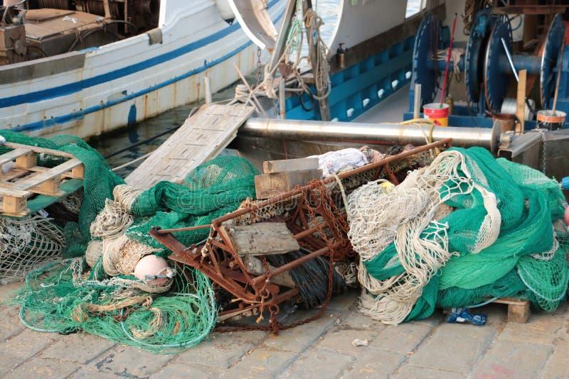 渔船和净额 库存照片