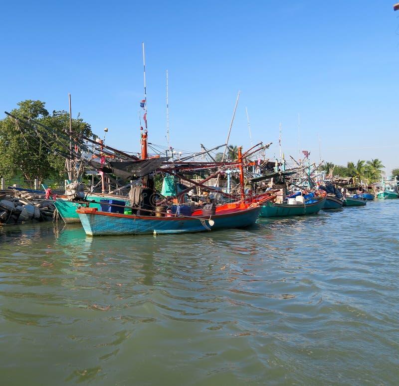 渔船和帆船连续 库存照片