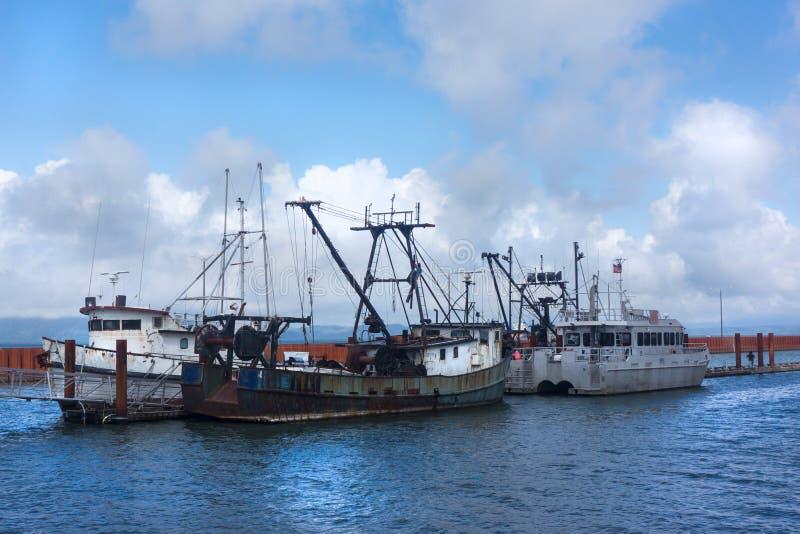 渔船哥伦比亚河俄勒冈 免版税库存照片