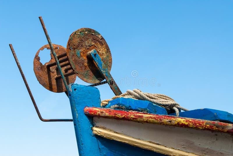 渔船在希腊 库存图片