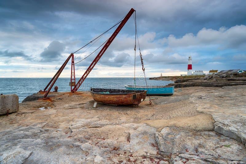 渔船在波特兰比尔 库存照片