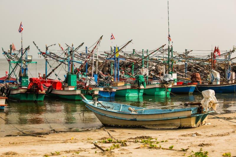 渔船在海 库存照片