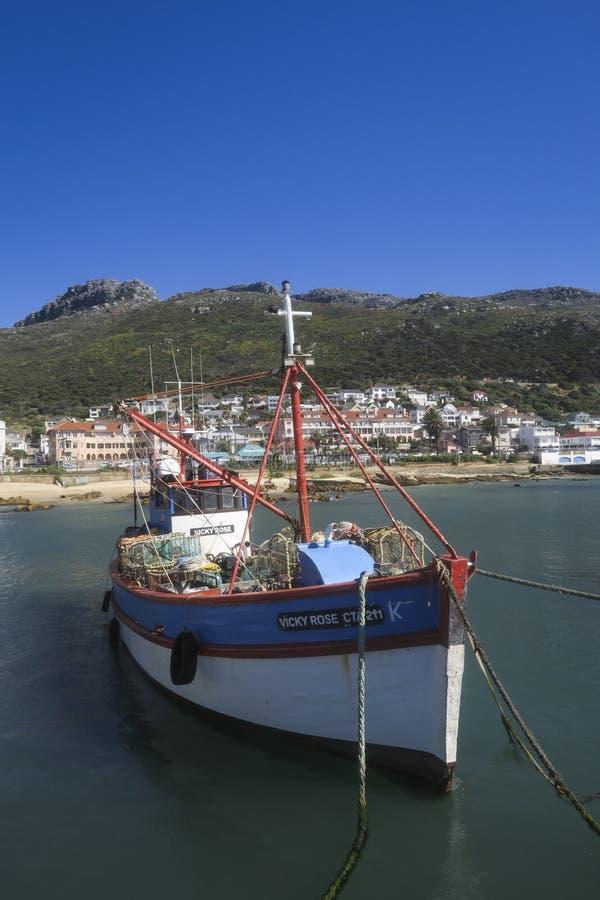 渔船在港口在开普敦 图库摄影