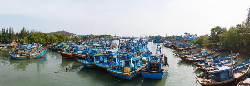 渔船在越南 图库摄影