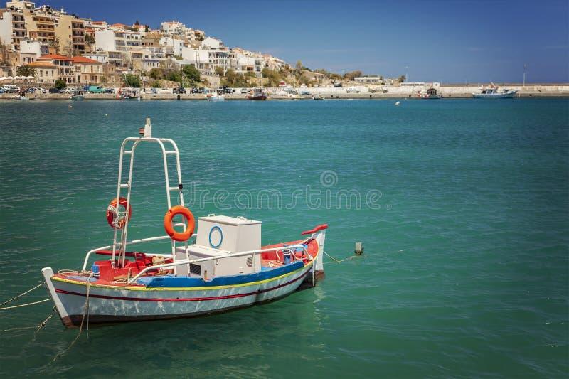 渔船在锡蒂亚 图库摄影