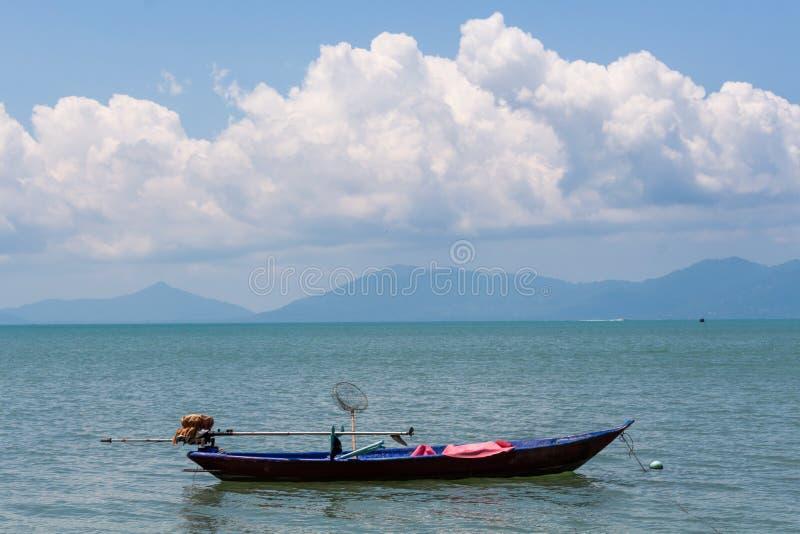 渔船酸值苏梅岛泰国 免版税图库摄影