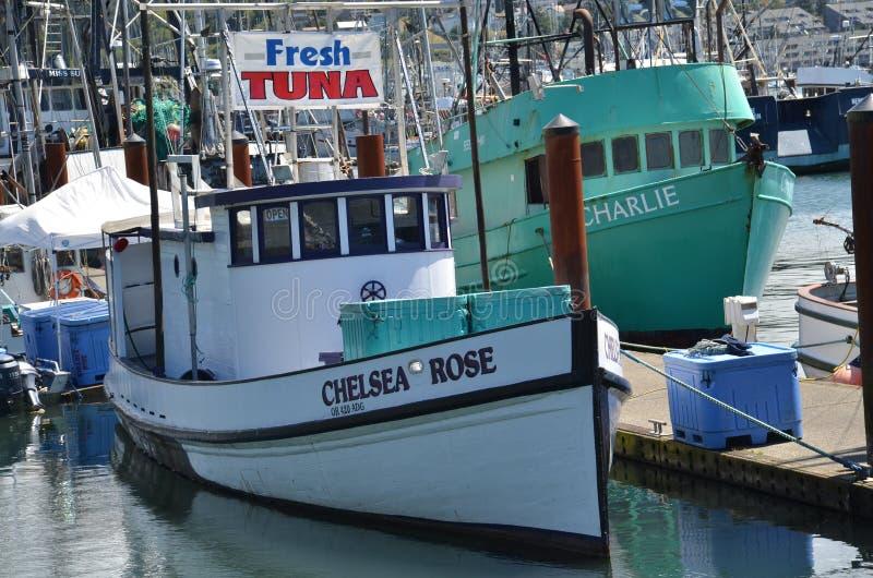 渔船`切尔西罗斯`在纽波特,俄勒冈 免版税库存照片