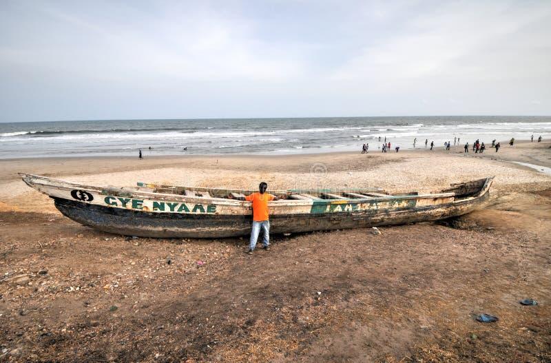 渔船-阿克拉,加纳 免版税图库摄影