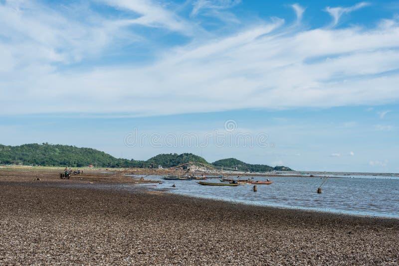 渔船Krasiao水坝 Suphanburi省 库存图片