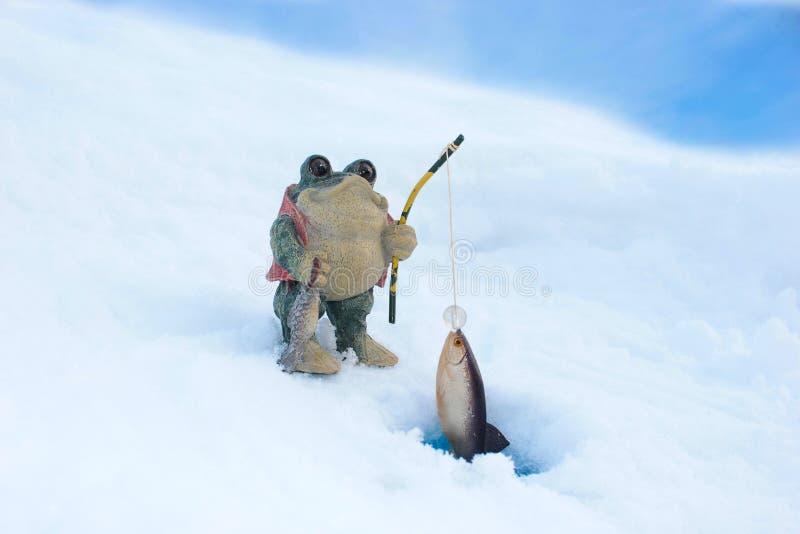 Download 渔青蛙 库存照片. 图片 包括有 冻结, 池塘, 小雕象, 青蛙, 渔夫, 抓住, 体育运动, 冰冷, 冬天 - 72369068
